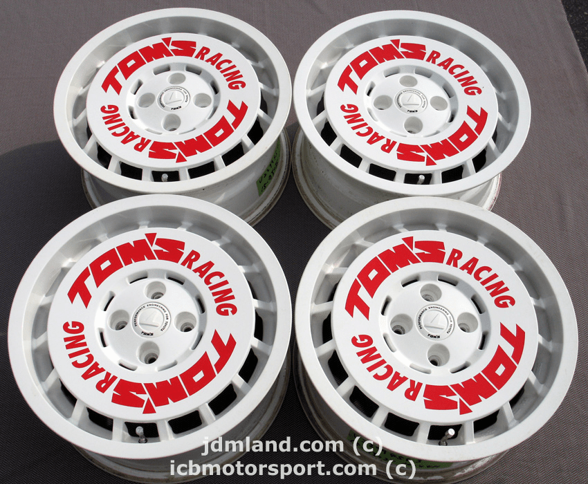 TOM'S RACING 15x7 +35 4X100 Complete - SOLD
