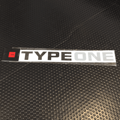 Type One Logo Sticker Black 250mm ALL-90000-T21