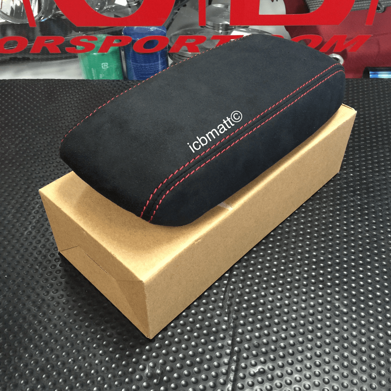 USDM Acura Integra Type-R DC2 97-01 Red Stitched Alcantera Arm Rest