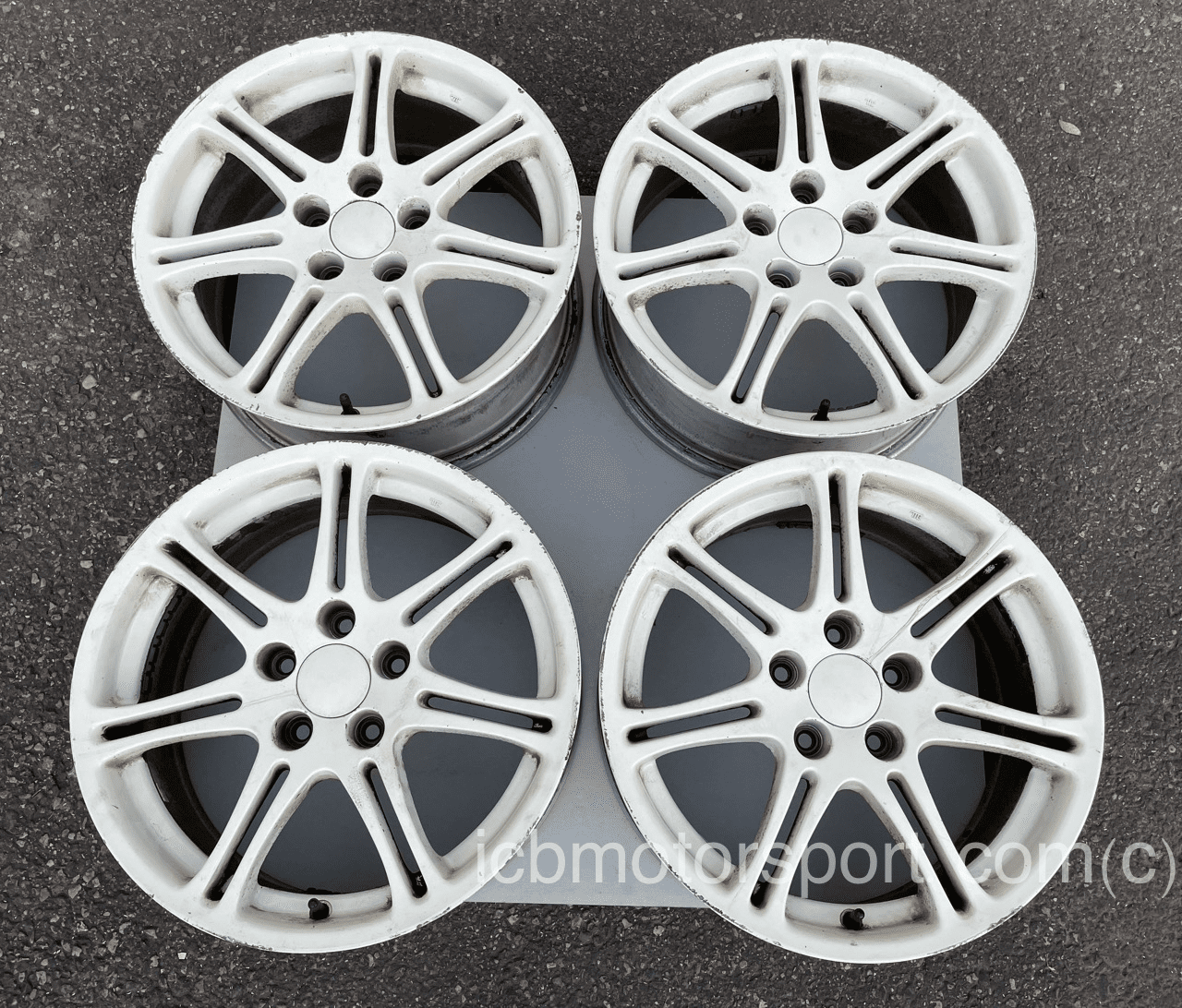 Used Civic EP3 Type R Champ. White Wheels 17X7 +60 Offset