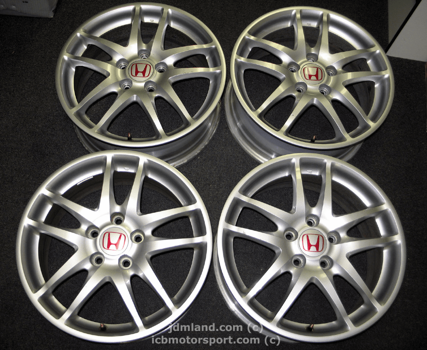 "Used DC5 ITR Type R Silver Wheels 17"" 5X114.3 - SOLD"