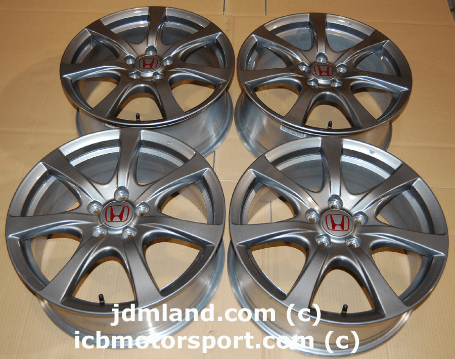 Used FD2 Civic Type R Gunmetal Wheels 18X7.5 +60offset MINT