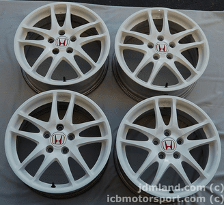 Used Integra DC5 ITR Type R Champ. White Wheels 17X7 +60 Offset SOLD