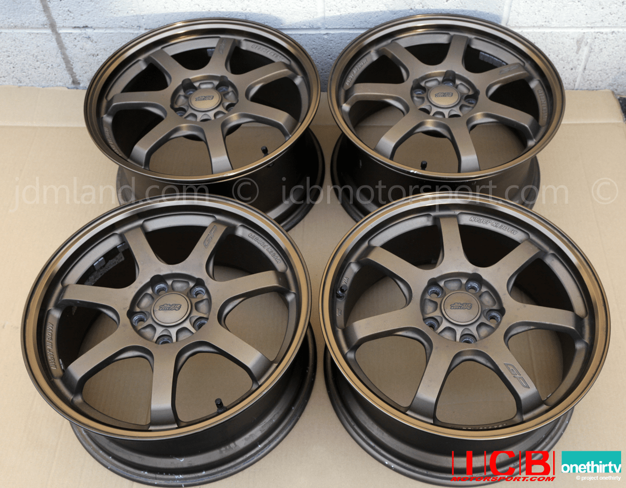 Used Mugen GP Forged Wheel Bronze 17X7.5 17X8.5 S2000 AP1 AP2 SOLD