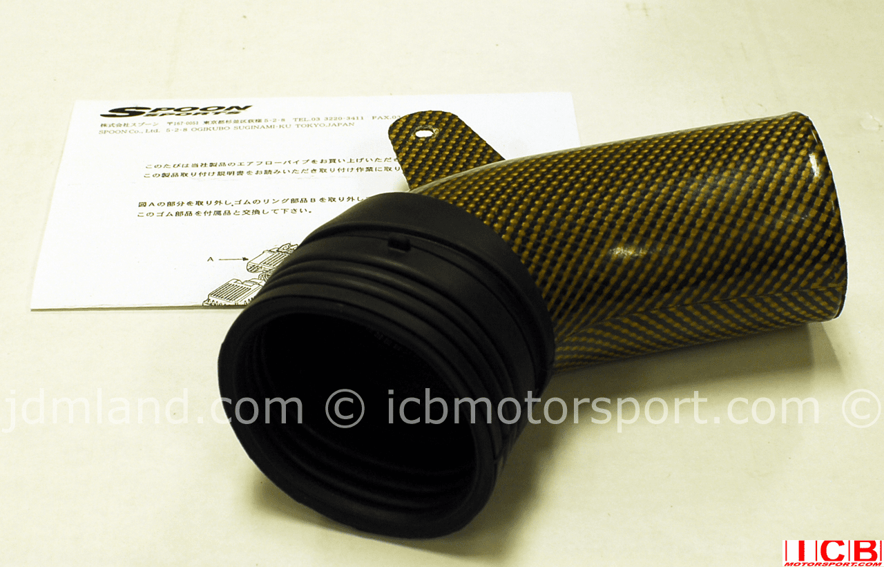 Used Spoon Sports EK9 Carbon Kevlar Direct Air Pipe