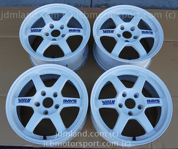 Used Volk Racing Rays Engineering TE-37 White 16X7 16X8 5X114.3 Sold