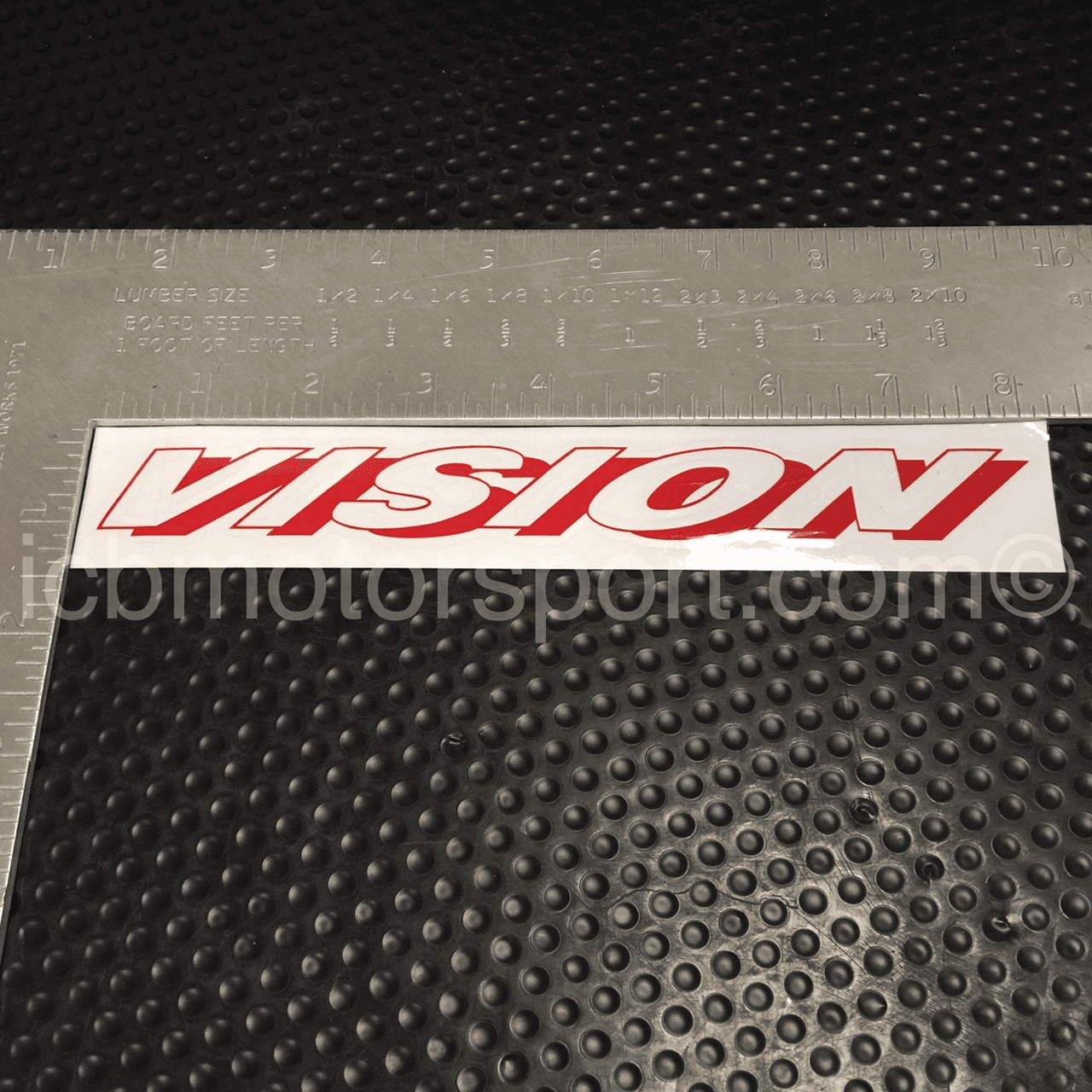 "Vision Technica 8 inch ""Vision"" Decal Red - Free Shipping"
