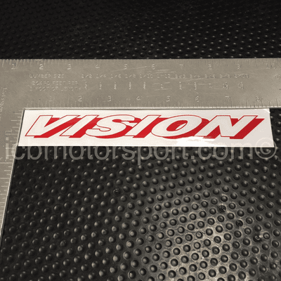 """Vision Technica 8 inch """"Vision"""" Decal Red - Free Shipping"""