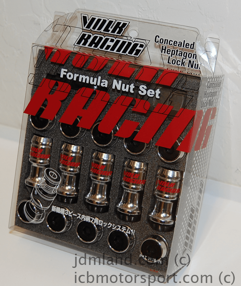 VOLK Racing Formula Lug Nuts Set Black WFN1215B 12X1.50mm FREE SHIPPING