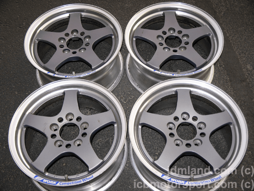 "WORK RSZR Gun Metal 15"" 5X114.3 - SOLD"