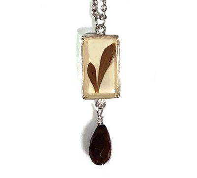Barberry SM Rect Necklace w/Drop
