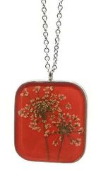 Queen Anne's Lace Lg Sq Necklace
