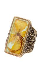 Wild Butterfly Pansy Ring