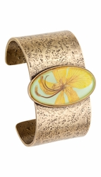 Wild Butterfly Pansy Oval Cuff