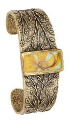 Wild Butterfly Pansy Rect Cuff