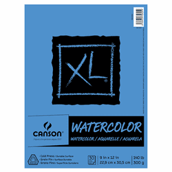 Canson XL Watercolor Pad, 9X12