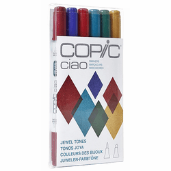 COPIC Ciao Marker Set of 6, Jewel