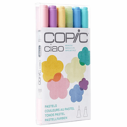 COPIC Ciao Marker Set of 6, Pastels