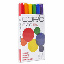 COPIC Ciao Marker Set of 6, Primary