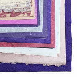 Handmade Paper Mystery Pack, Pink/Purple Colors