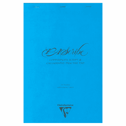 PAScribe Clairefontaine Calligraphy Practice Pad, Blue/White