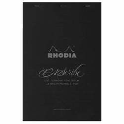 PAScribe Rhodia Carb'On Lined Paper Pad, Black