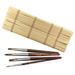 Raphael Travel Watercolor Brush Set of 4 with Bamboo Roll-up