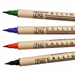 Zig Memory System Calligraphy Marker Set of 4