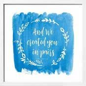 Framed Art Print: And We Created You In Pairs