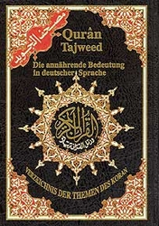 Quran Tajweed Arabic-German, HC, Color Coded