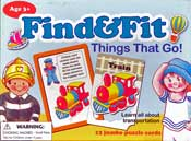 Find & Fit: Things That Go! 12 Jumbo Puzzle Cards (English)
