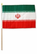 Flag of Iran: 12 x 18 in Stick Flag