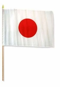 Flag of Japan: 12 x 18 in Stick Flag