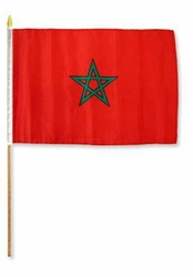 Flag of Morocco: 12 x 18 in Stick Flag