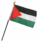 Flag of Palestine: 4 x 6 in. Stick Flag