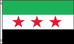 Flag of Syrian Republic: 3 x 5 ft.