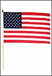 Flag of USA: 12 x 18 in. Stick Flag