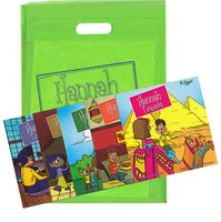 Hannah Travel Series: 5 Books + Map in Tote Bag