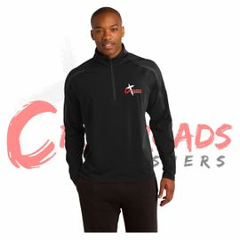 Crossroads Crushers Sport-Tek PosiCharge Stretch 1/2-Zip Colorblock Pullover. ST851.
