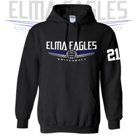 Elma HS Volleyball Gildan Hooded Sweatshirt. 18500.