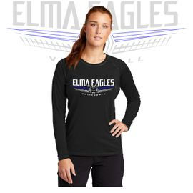 Elma HS Volleyball Sport-Tek Ladies Long Sleeve Rashguard Tee. LST470LS.