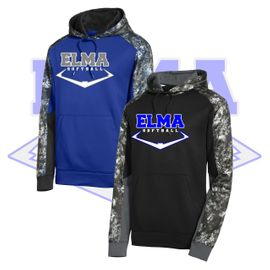 Elma HS Softball Sport-Tek Sport-Wick Mineral Freeze Fleece Colorblock Hooded Pullover. ST231.
