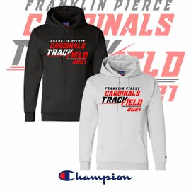 Franklin Pierce HS Track & Field Champion Double Eco Hooded Sweatshirt. S700.