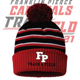 Franklin Pierce HS Track & Field Richardson Stripe Pom Beanie. 134.