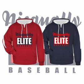 Nisqually Elite Baseball Badger Sideline Fleece Hooded Sweatshirt.