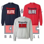 Nisqually Elite Baseball Crewneck Sweatshirt.