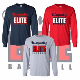 Nisqually Elite Baseball Long Sleeve T-Shirt.