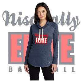Nisqually Elite Baseball New Era Ladies Sueded Cotton Blend Cowl Tee.