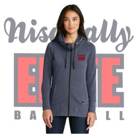 Nisqually Elite Baseball  New Era LADIES Tri-Blend Fleece Full-Zip Hoodie.