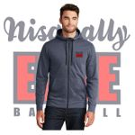 Nisqually Elite Baseball New Era Tri-Blend Fleece Full-Zip Hoodie.